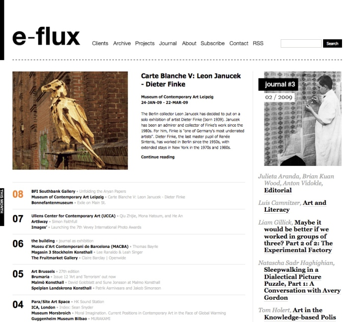 e-flux website