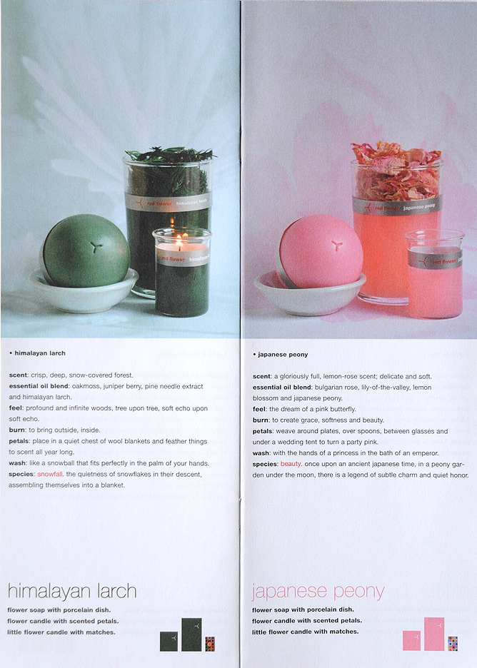 red flower-candle catalogue